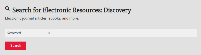 Discovery search box